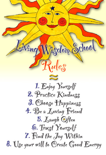 Living Wisdom School Rules
